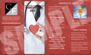 evidence based chiropractic brochure