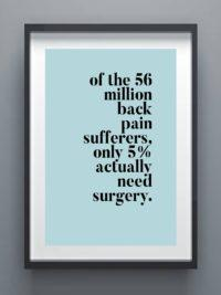 Back Pain Surgery Poster
